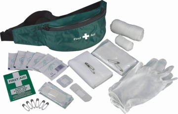 First aid kit in waist bag